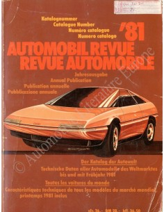 1981 AUTOMOBIL REVUE JAHRESKATALOG DEUTSCH FRANZÖSISCH