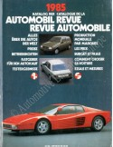 1985 AUTOMOBIL REVUE YEARBOOK GERMAN FRENCH