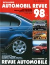1998 AUTOMOBIL REVUE YEARBOOK GERMAN FRENCH