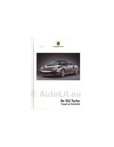 2004 PORSCHE 911 TURBO HARDCOVER BROCHURE NEDERLANDS