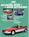 1987 AUTOMOBIL REVUE YEARBOOK GERMAN FRENCH