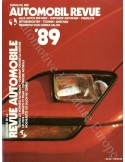 1989 AUTOMOBIL REVUE YEARBOOK GERMAN FRENCH