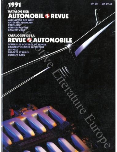 1991 AUTOMOBIL REVUE JAHRESKATALOG DEUTSCH FRANZÖSISCH
