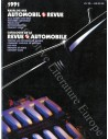 1991 AUTOMOBIL REVUE YEARBOOK GERMAN FRENCH