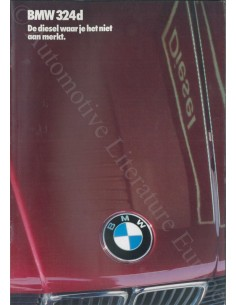 1986 BMW 3 SERIE DIESEL BROCHURE DUTCH