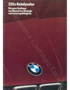 1985 BMW 3 SERIES BROCHURE GERMAN