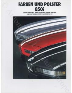 1982 BMW 3ER FARBEN UND POLSTER PROSPEKT