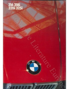 1986 BMW 3 SERIE BROCHURE NEDERLANDS