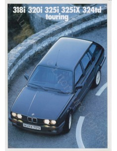 1989 BMW 3 SERIE TOURING BROCHURE DUITS