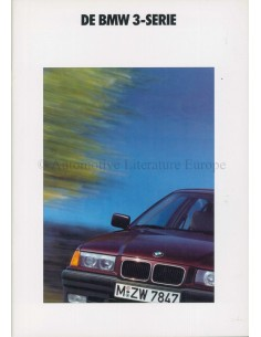 1991 BMW 3 SERIES BROCHURE DUTCH WITH PRICELIST