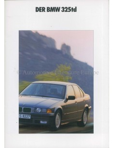 1991 BMW 3 SERIES 325td BROCHURE GERMAN