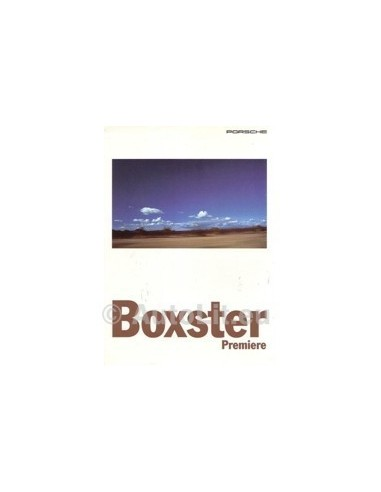 1995 PORSCHE BOXSTER BROCHURE DUITS
