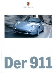1997 PORSCHE 911 CARRERA TARGA & TURBO BROCHURE DUITS