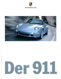 1997 PORSCHE 911 CARRERA TARGA & TURBO BROCHURE GERMAN
