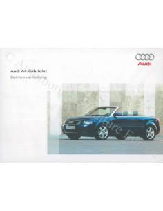 2004 AUDI A4 CONVERTIBLE OWNER'S MANUAL GERMAN