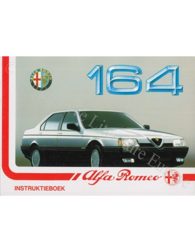 1992 ALFA ROMEO 164 INSTRUCTIEBOEKJE NEDERLANDS