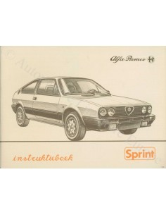 1986 ALFA ROMEO SPRINT OWNER'S MANUAL DUTCH
