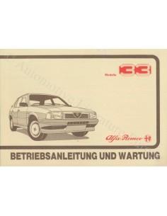 1987 ALFA ROMEO 33 OWNER'S MANUAL GERMAN