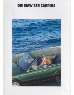 1991 BMW 3ER CABRIO PROSPEKT DEUTSCH