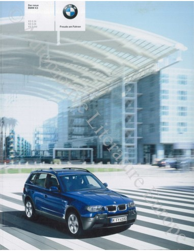 2003 BMW X3 BROCHURE GERMAN