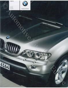 2003 BMW X5 BROCHURE GERMAN