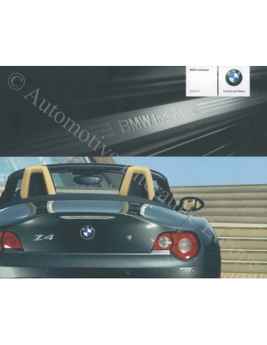 2005 BMW Z4 ROADSTER INDIVIDUAL BROCHURE DUITS