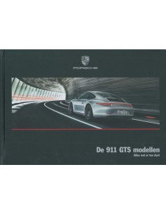 2016 PORSCHE 911 TARGA 4 GTS HARDCOVER BROCHURE DUTCH