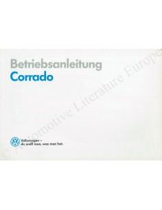 1990 VOLKSWAGEN CORRADO OWNER'S MANUAL GERMAN