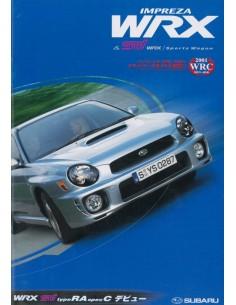 2002 SUBARU IMPREZA WRX & STI WRX / SPORTS WAGON BROCHURE JAPANESE