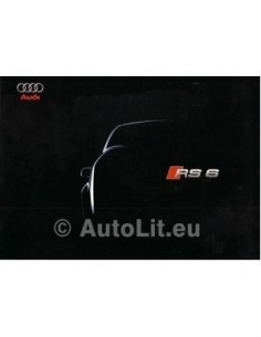 2002 AUDI RS6 QUATTRO BROCHURE GERMAN
