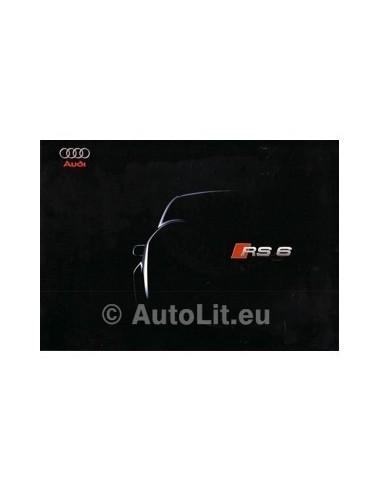2002 AUDI RS6 QUATTRO BROCHURE DUITS