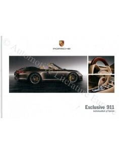 2012 PORSCHE 911 CARRERA EXCLUSIVE HARDCOVER BROCHURE NEDERLANDS