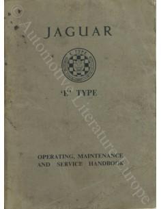 1962 JAGUAR E TYPE 3.8 BETRIEBSANLEITUNG ENGLISCH