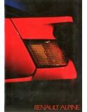 1985 ALPINE GT V6 BROCHURE NEDERLANDS