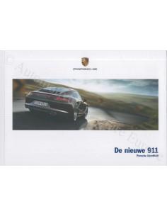 2013 PORSCHE 911 CARRERA HARDCOVER PROSPEKT NIEDERLÄNDISCH