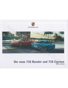 2017 PORSCHE 718 BOXTER & CAYMAN HARDCOVER BROCHURE GERMAN