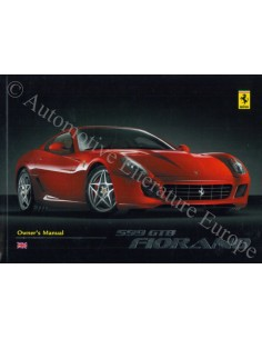2008 FERRARI 599 GTB FIORANO OWNER'S MANUAL ENGLISH