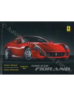 2006 FERRARI 599 GTB FIORANO BETRIEBSANLEITUNG ENGLISCH USA / KANADA