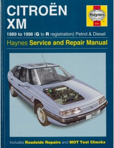 1989 - 1998 CITROEN XM REPAIR MANUAL ENGLISH