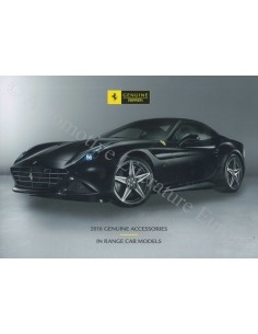 2016 FERRARI GENUINE ACCESSORIES BROCHURE ENGLISH
