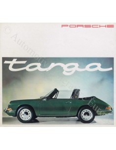 1965 PORSCHE 911 & 912 TARGA BROCHURE GERMAN ENGLISH FRENCH