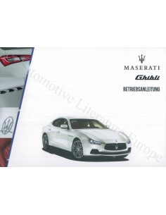 2014 MASERATI GHIBLI OWNER'S MANUAL GERMAN