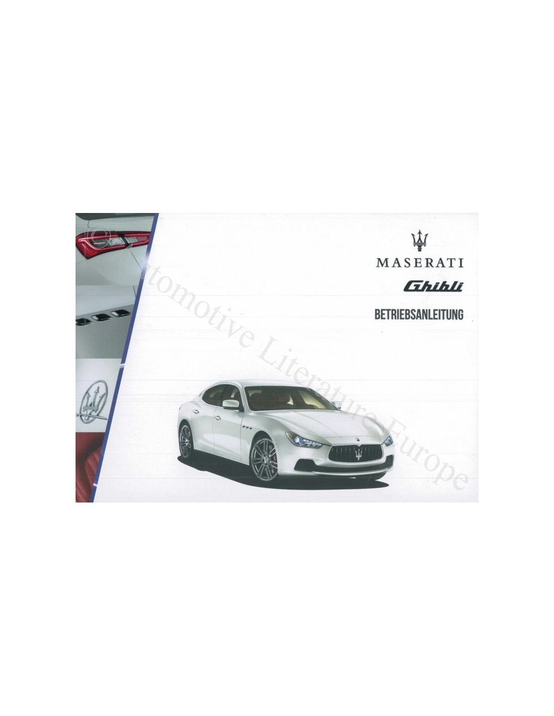 2014 maserati ghibli owner s manual german rh autolit eu maserati owners manual pdf maserati ghibli owner's manual