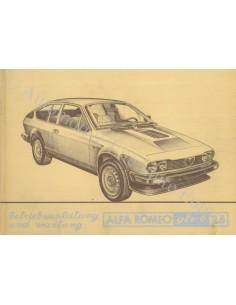 1981 ALFA ROMEO GTV6 2.5 OWNER'S MANUAL GERMAN