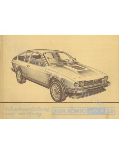 1981 ALFA ROMEO GTV6 2.5 INSTRUCTIEBOEKJE DUITS