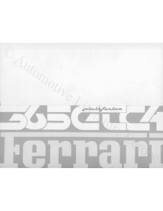 1971 FERRARI 365 GTC/4 PININFARINA BROCHURE 50/71