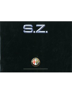 1990 ALFA ROMEO SZ BROCHURE ENGLISH