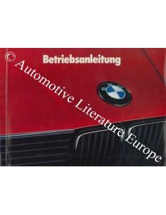 1989 BMW 3 SERIES OWNERS MANUAL GERMAN