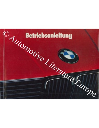 1989 BMW 3 SERIES OWNER'S MANUAL GERMAN