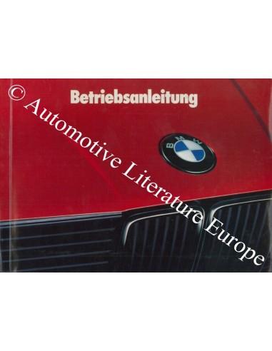 1989 BMW 3 SERIES OWNER'S MANUAL GERMAN